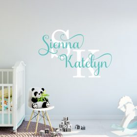Two Name Wall Sticker 13d Decal