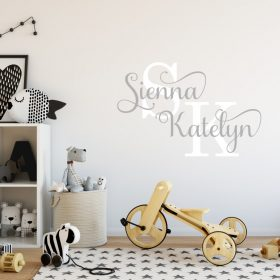 Two Name Wall Sticker 13f Decal