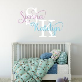 Two Name Wall Sticker 13g Decal