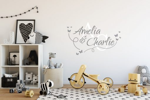 Two Name Wall Sticker 14a Decal