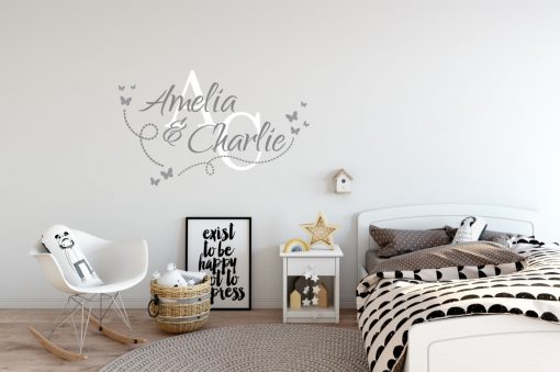 Two Name Wall Sticker 14b Decal