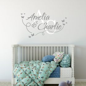 Two Name Wall Sticker 14c Decal
