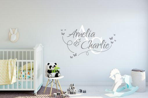 Two Name Wall Sticker 14d Decal