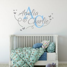 Two Name Wall Sticker 14e Decal
