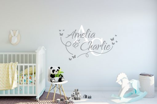 Two Name Wall Sticker 14g Decal