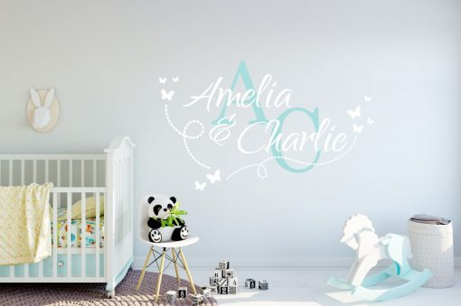 Two Name Wall Sticker 14i Decal