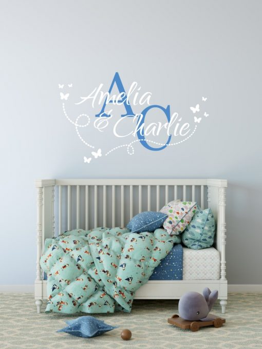 Two Name Wall Sticker 14k Decal
