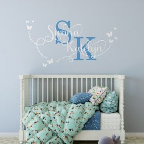 Two Name Wall Sticker 15a Decal