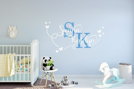 Two Name Wall Sticker 15b Decal