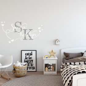 Two Name Wall Sticker 15c Decal