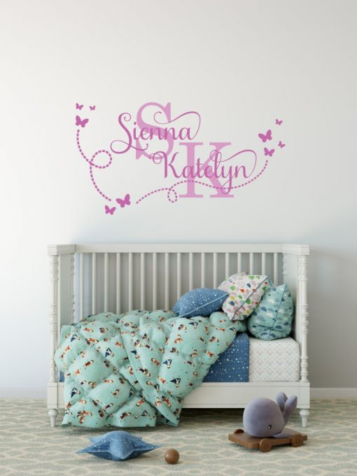 Two Name Wall Sticker 15e Decal