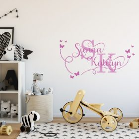 Two Name Wall Sticker 15f Decal