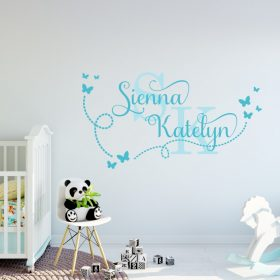 Two Name Wall Sticker 15g Decal