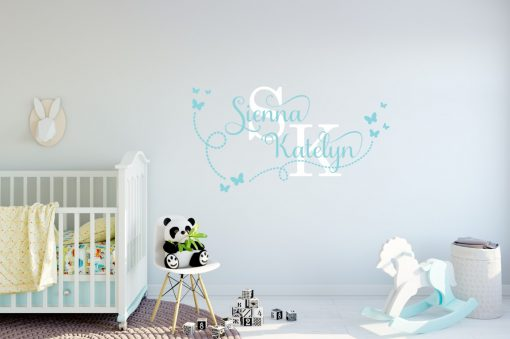 Two Name Wall Sticker 15h Decal