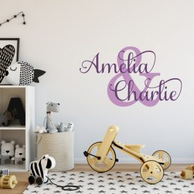 Two Name Wall Sticker 1a Decal