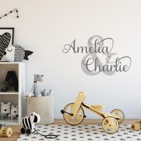 Two Name Wall Sticker 1b Decal