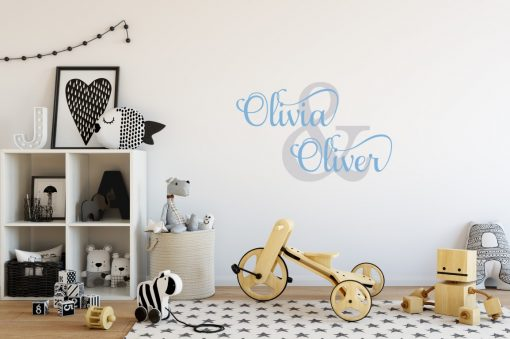 Two Name Wall Sticker 1c Decal