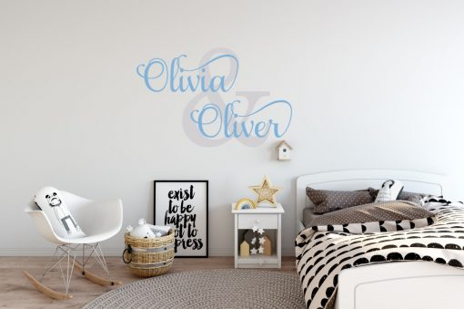 Two Name Wall Sticker 1d Decal