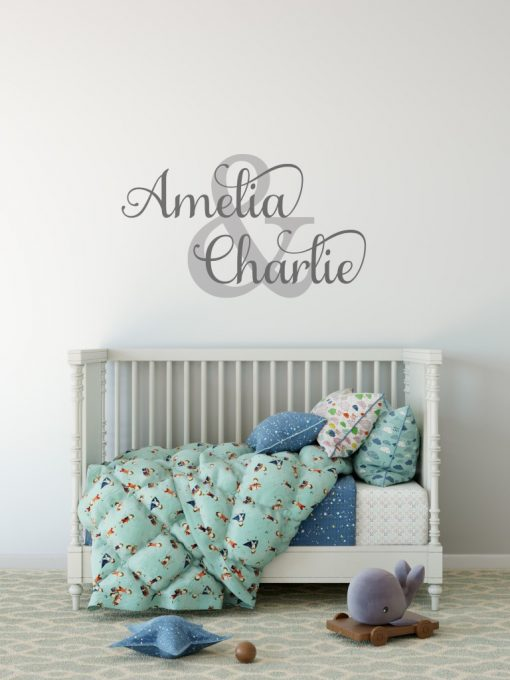 Two Name Wall Sticker 1e Decal
