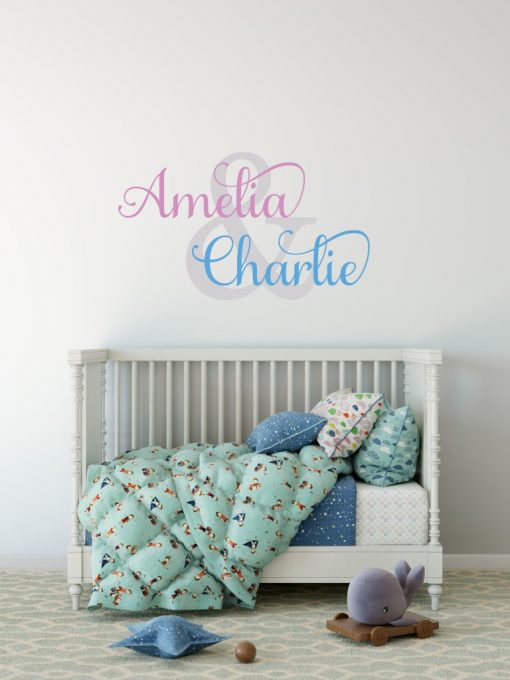 Two Name Wall Sticker 1g Decal
