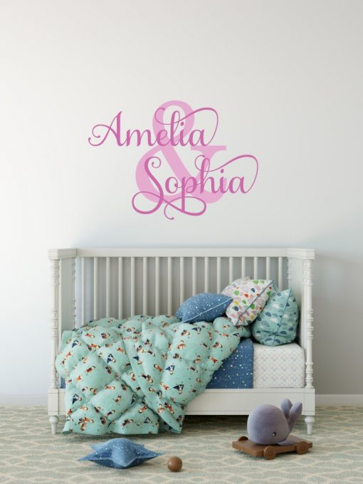 Two Name Wall Sticker 1i Decal