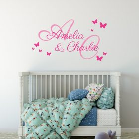 Two Name Wall Sticker 2a Decal