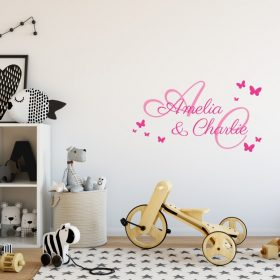 Two Name Wall Sticker 2b Decal
