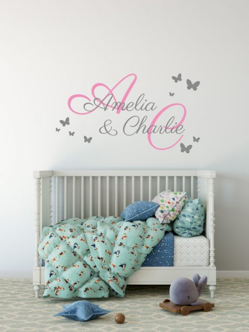 Two Name Wall Sticker 2d Decal