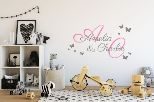 Two Name Wall Sticker 2e Decal
