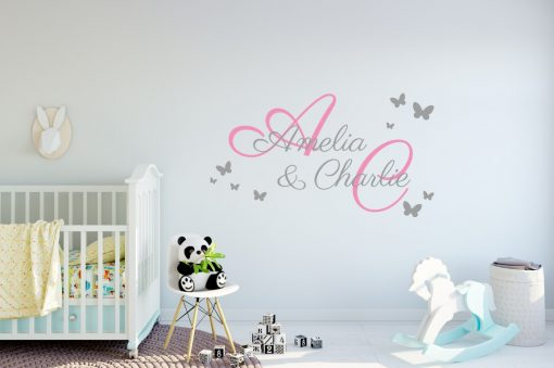 Two Name Wall Sticker 2f Decal