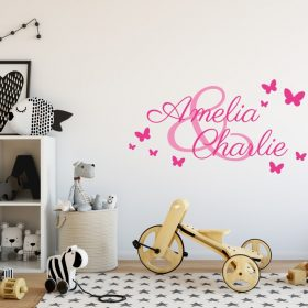 Two Name Wall Sticker 3b a Decal