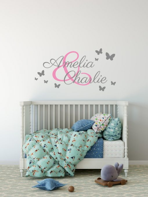 Two Name Wall Sticker 3b b Decal