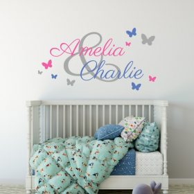 Two Name Wall Sticker 3b c Decal