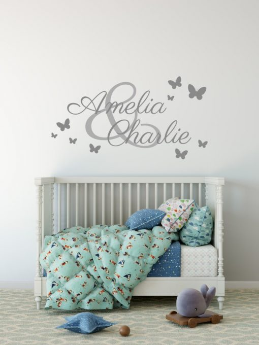 Two Name Wall Sticker 3b d Decal