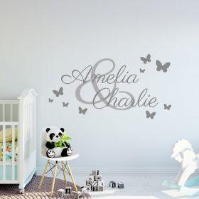 Two Name Wall Sticker 3b e Decal