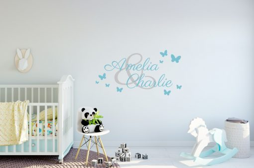 Two Name Wall Sticker 3b f Decal