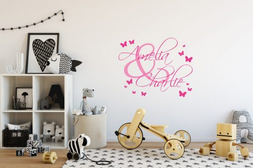 Two Name Wall Sticker 4a Decal