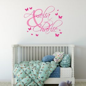 Two Name Wall Sticker 4b Decal