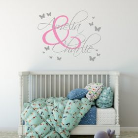 Two Name Wall Sticker 4c Decal