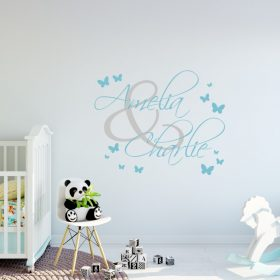 Two Name Wall Sticker 4d Decal