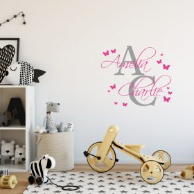 Two Name Wall Sticker 5a Decal