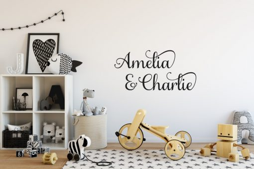 Two Name Wall Sticker 6a Decal