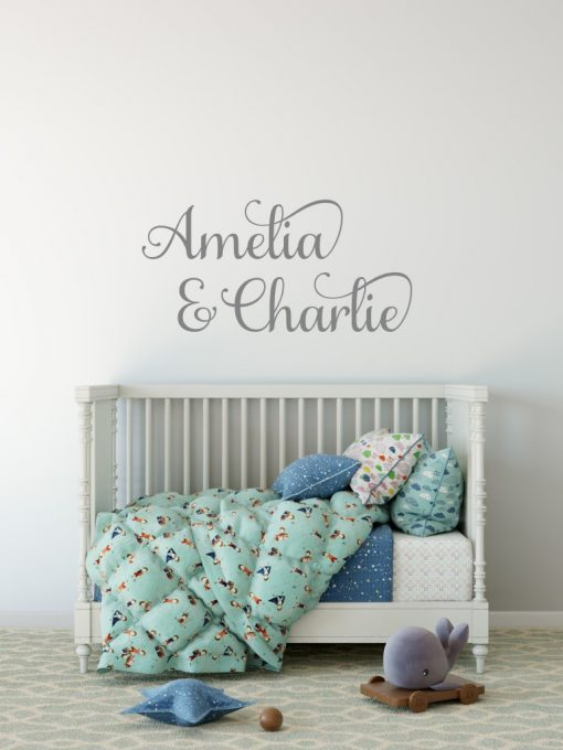 Two Name Wall Sticker 6b Decal