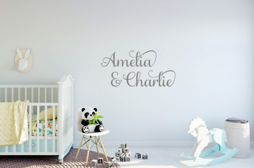 Two Name Wall Sticker 6c Decal