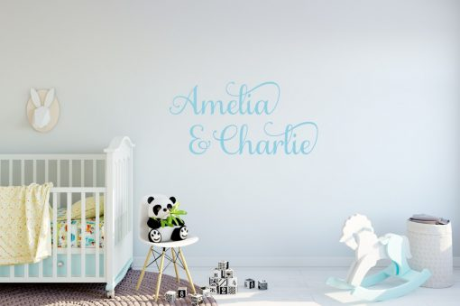 Two Name Wall Sticker 6d Decal
