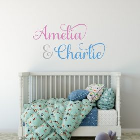 Two Name Wall Sticker 6e Decal