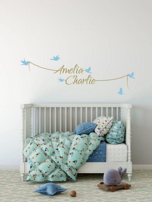 Two Name Wall Sticker 7a Decal
