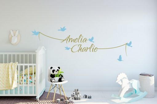 Two Name Wall Sticker 7b Decal