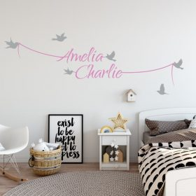 Two Name Wall Sticker 7c Decal