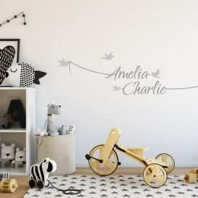 Two Name Wall Sticker 7e Decal